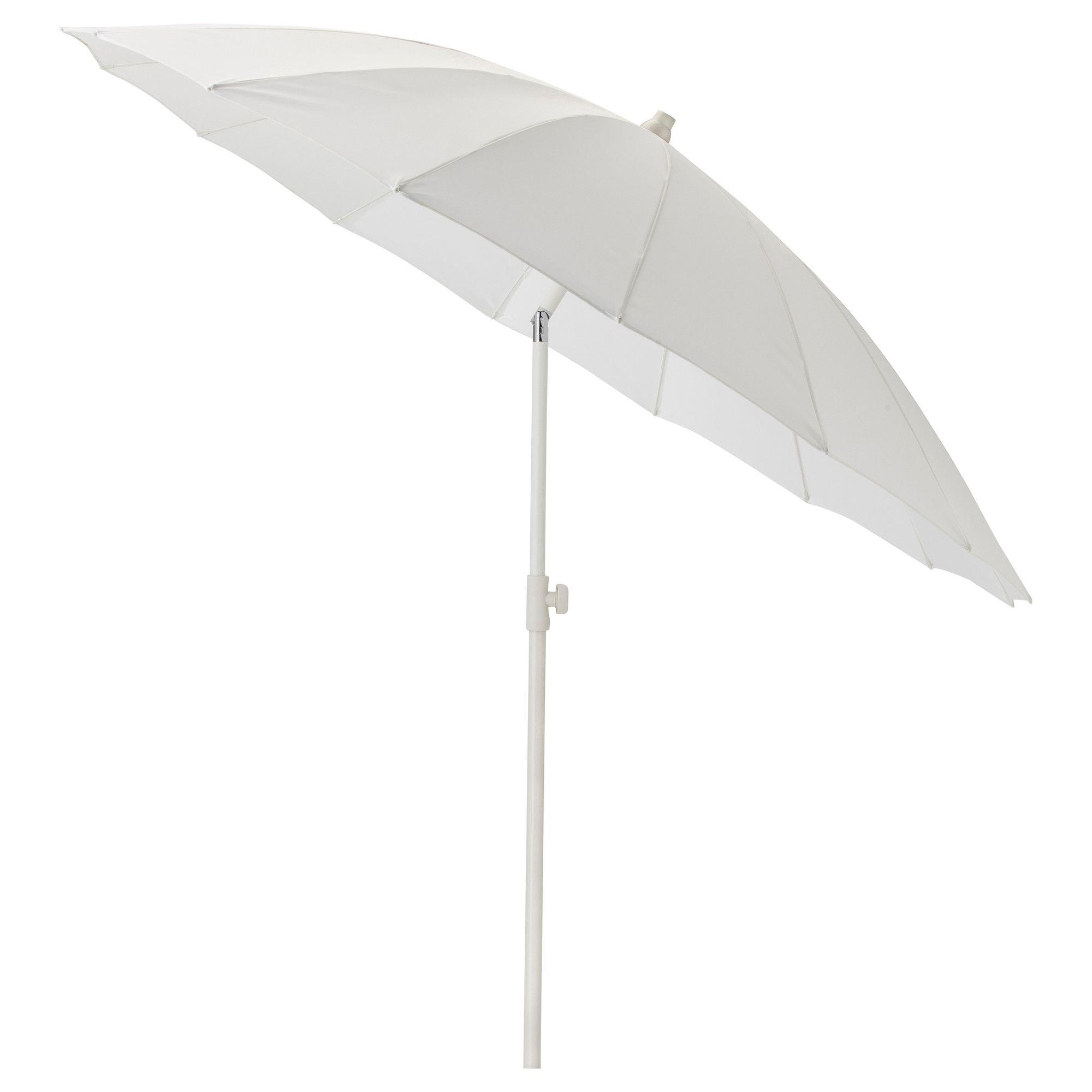 SAMS– Sonnenschirm verstellbar weiß IKEA