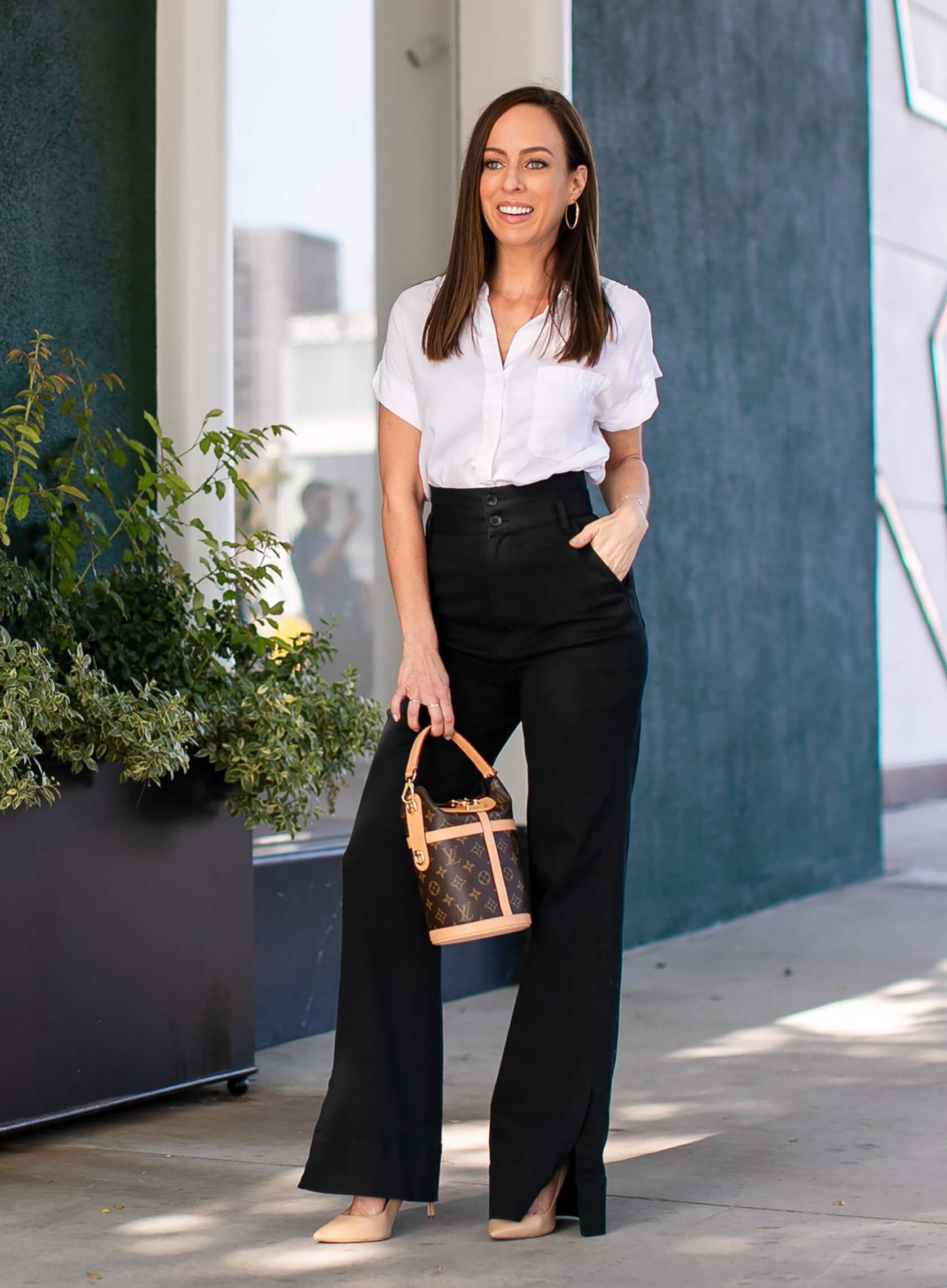 High Waisted Black Pants From Work To The Weekend Sydne Style Black High Waisted Pants High Waisted Pants Outfit Classic Outfits [ 2284 x 1680 Pixel ]