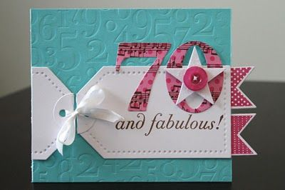 Great idea wrapping tags around a card off center and tied with a bow