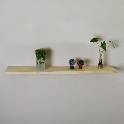 Welland 1 125 Inch X 10 Inch X 48 Inch Aspen Solid Wood Floating Wall Shelf Unfinished By Welland 49 00 Floating Wall Shelves Wall Shelves Floating Shelves