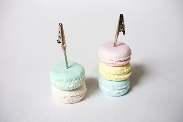 Do It Yourself Deko diy deko macaron stack card holder memo stand for