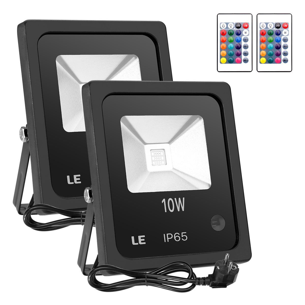 Le 10w rgb led flood lights outdoor color changing led security le 10w rgb led flood lights outdoor color changing led security light 16 colors mozeypictures Gallery