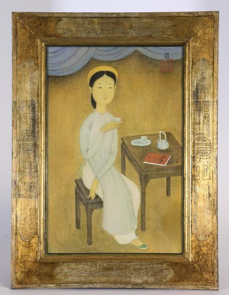 estimation gratuite et expertise tableau peinture gouache mai thu zao wou ki chine j. Black Bedroom Furniture Sets. Home Design Ideas