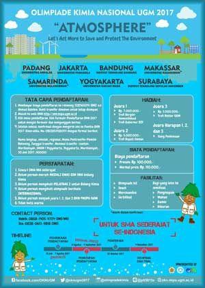 Atmosphere Lomba Olimpiade Kimia Okn Ugm Yogyakarta Atmosphere 2017 Olimpiade Kimia Nasional Ugm Deadline 4 September 2017 Kimia Yogyakarta Surabaya