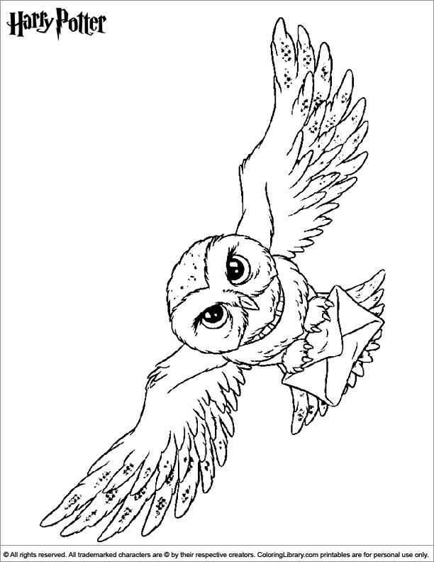 Harry Potter Coloring Picture Harry Potter Coloring Pages Harry Potter Colors Harry Potter Owl