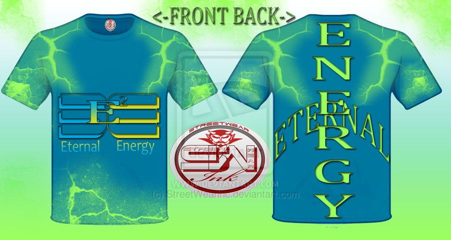 Eternal Energy E2 T-shirt designed by Streetwear by ~StreetWearinc on deviantART