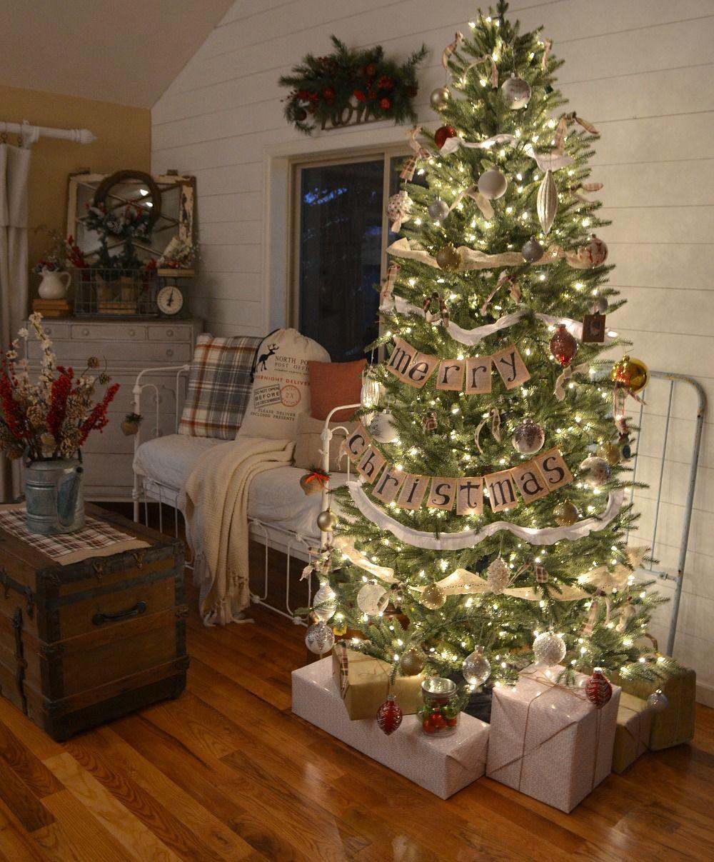 Vintage Farmhouse Christmas Tree Farmhouse christmas
