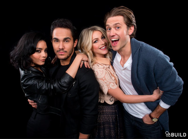 Vanessa Hudgens, Carlos Pena, Julianne Hough and Aaron Tveit for AOL BUILD - January 18th