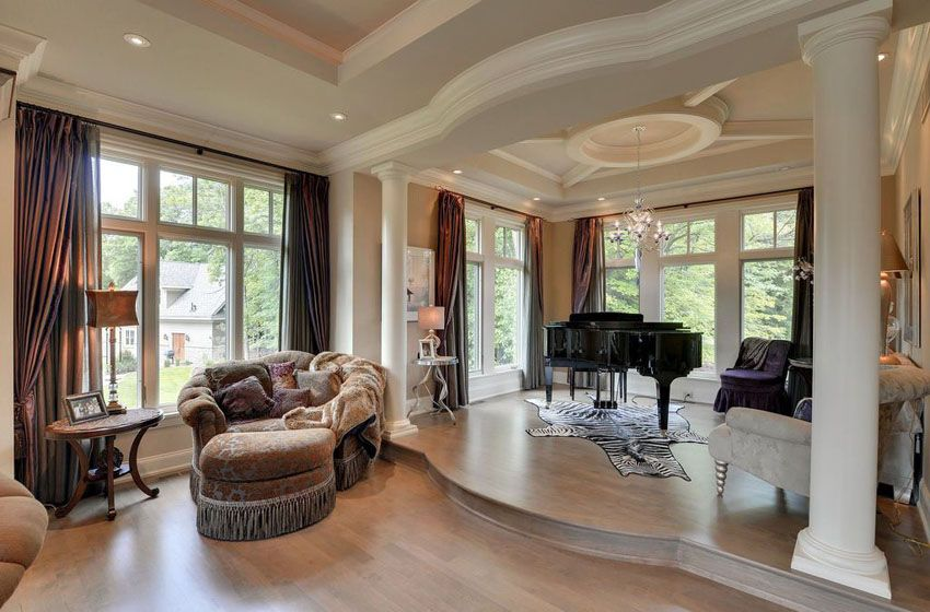 39 Gorgeous Sunken Living Room Ideas | Living rooms, Ceiling and Trays