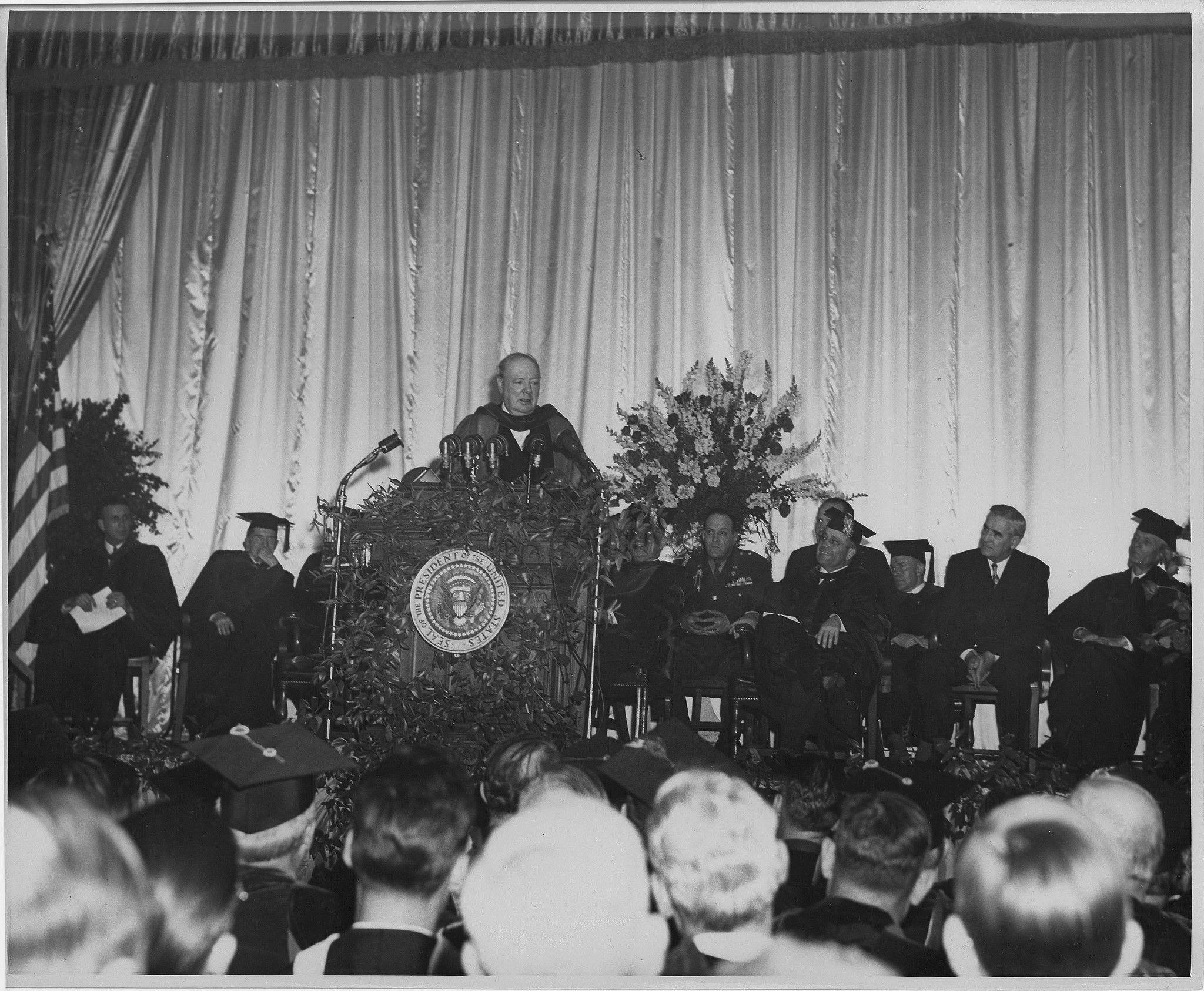 Churchill iron curtain speech cartoon - Political Winston Churchill Iron Curtain Speech At Westminster College 1946 Churchill Condemns