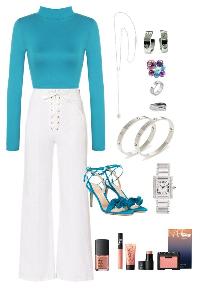 """""""CHILLAX DATE NIGHT"""" by yogalover1960 on Polyvore featuring A.L.C., WearAll, Cartier, NARS Cosmetics and Gianvito Rossi"""
