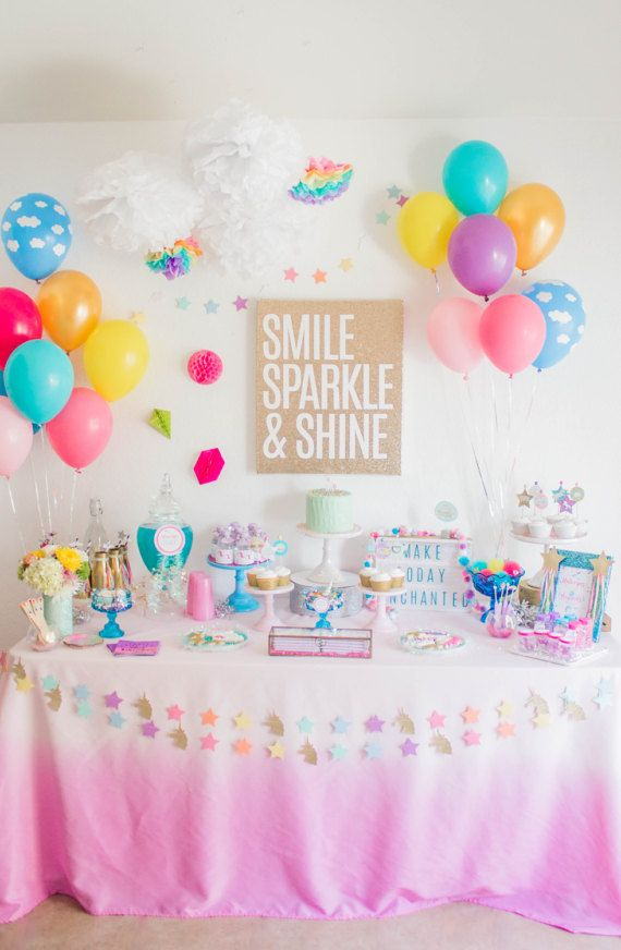 Unicorn Tablecloth Pink Pink Unicorn Birthday