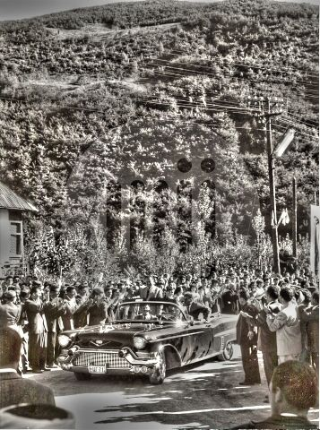 President of Yugoslavia Tito visited every corner of big country. Even…