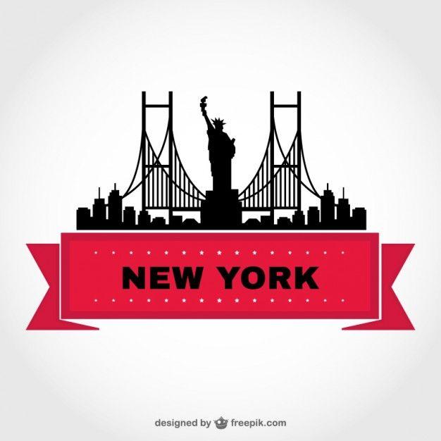 New York Skyline Vector Template Templates New York Art New