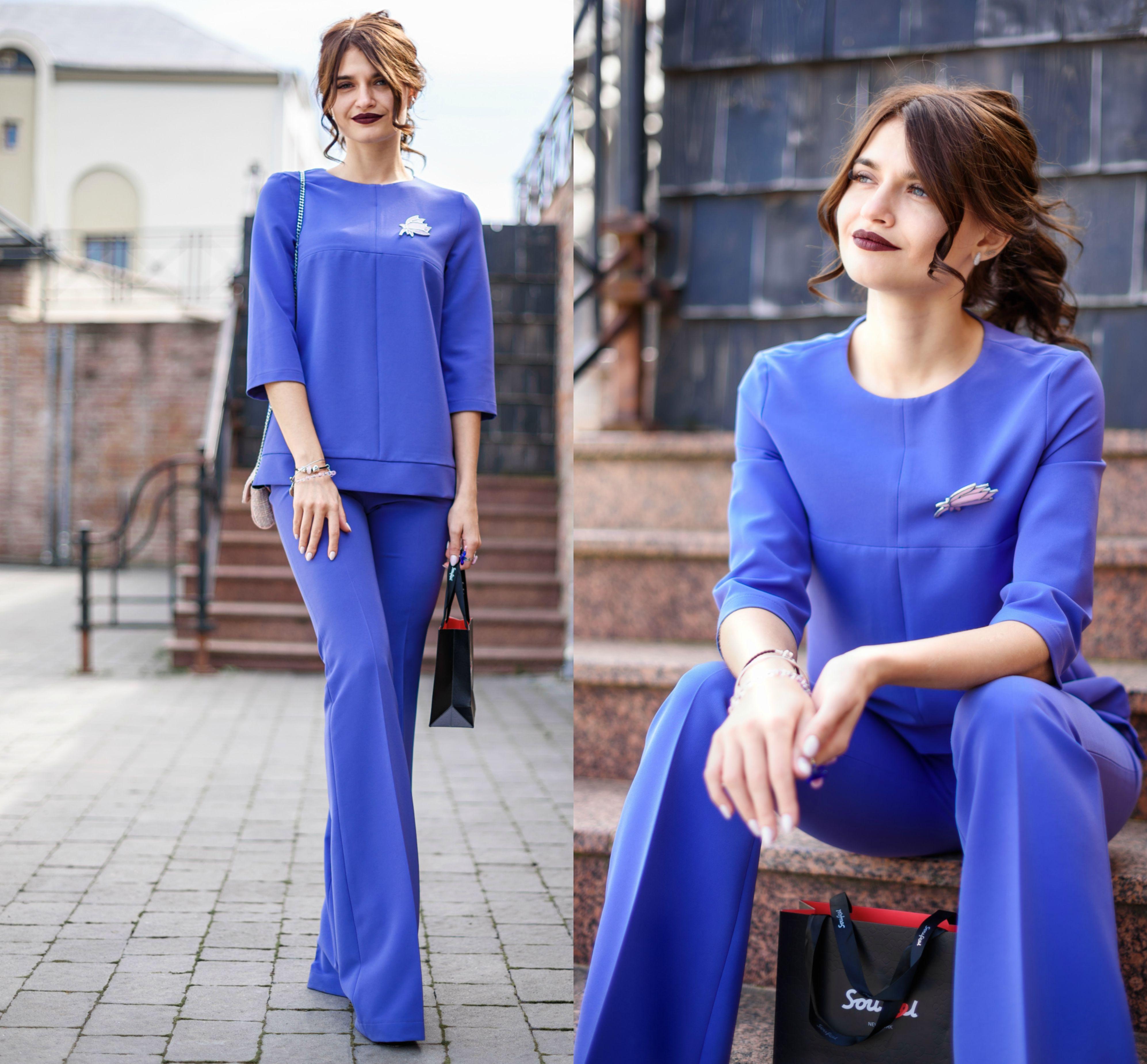 755a22c15d9f образдня  блакитний костюм зі штанами