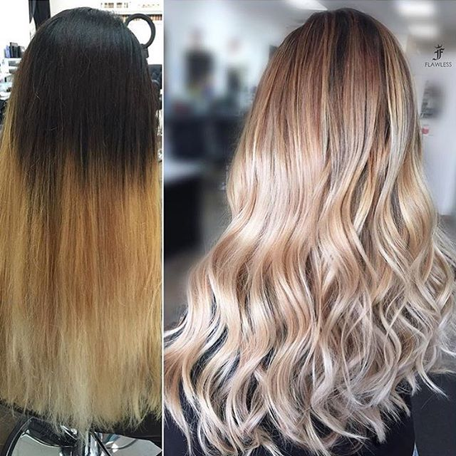 Dreamy #TransformationTuesday! Color by: @glamhairbymarie