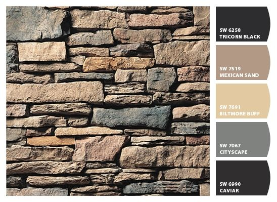 Paint colors from Chip It! by Sherwin-Williams (Chardonnay Southern Ledgestone by culturedstone.com)