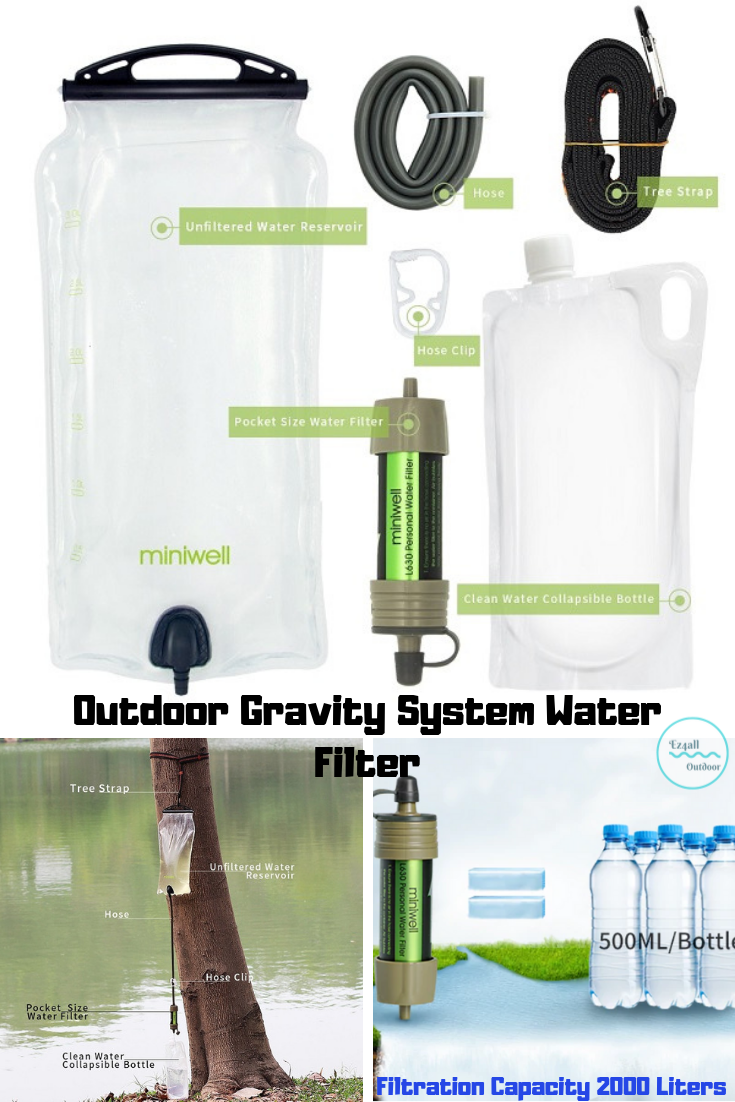 Gravity System Water Filter Backpacking Straw Kit For Camping Hiking Survival 6951533263032 Ebay Outdoor Camping Gear Collapsible Water Bottle Survival