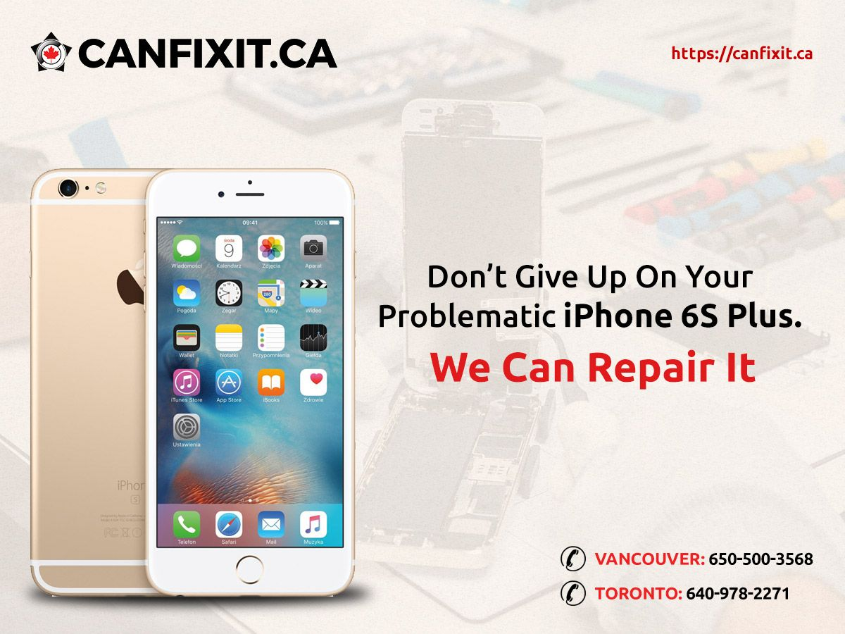 Get instant iPhone 6S Plus repairs with 6months repair service