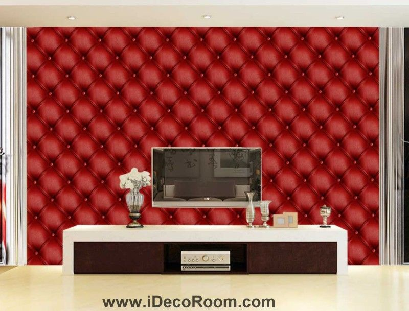 title | 3d Red Leather Wallpaper For Wall