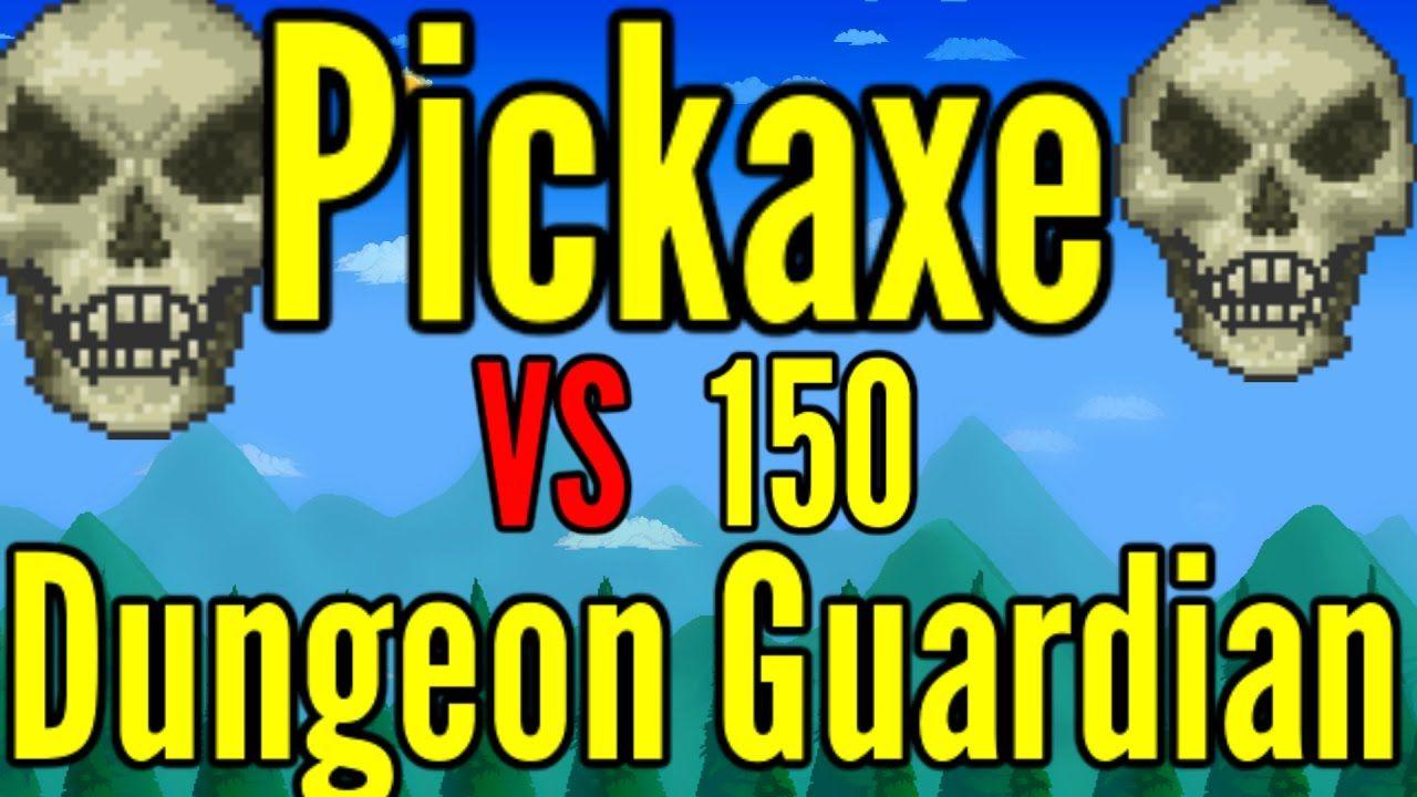 Terraria Pickaxe Vs 150 Dungeon Guardians Dungeon Terrarium