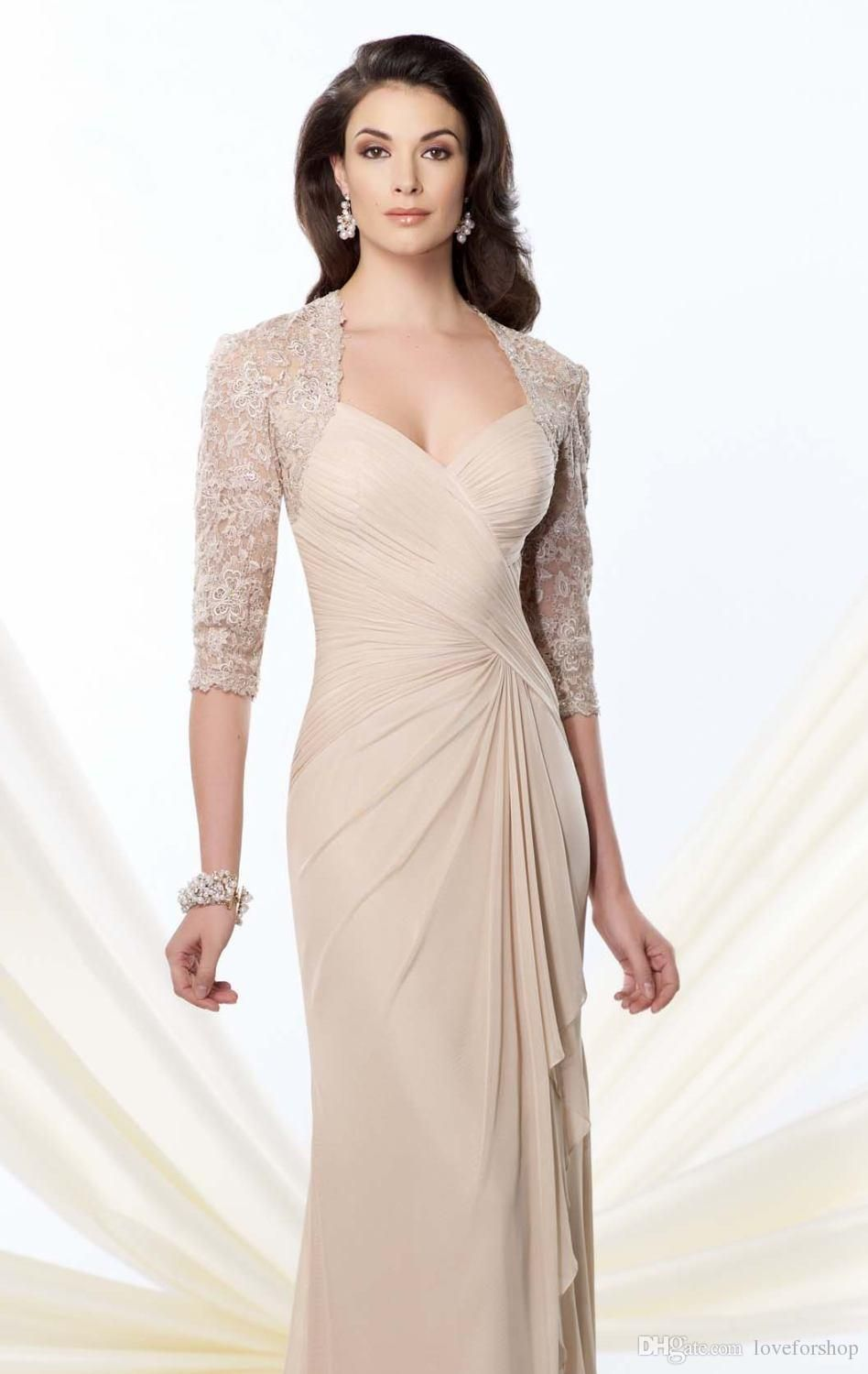 mother of the bride dresses long sleeves champagnenavy