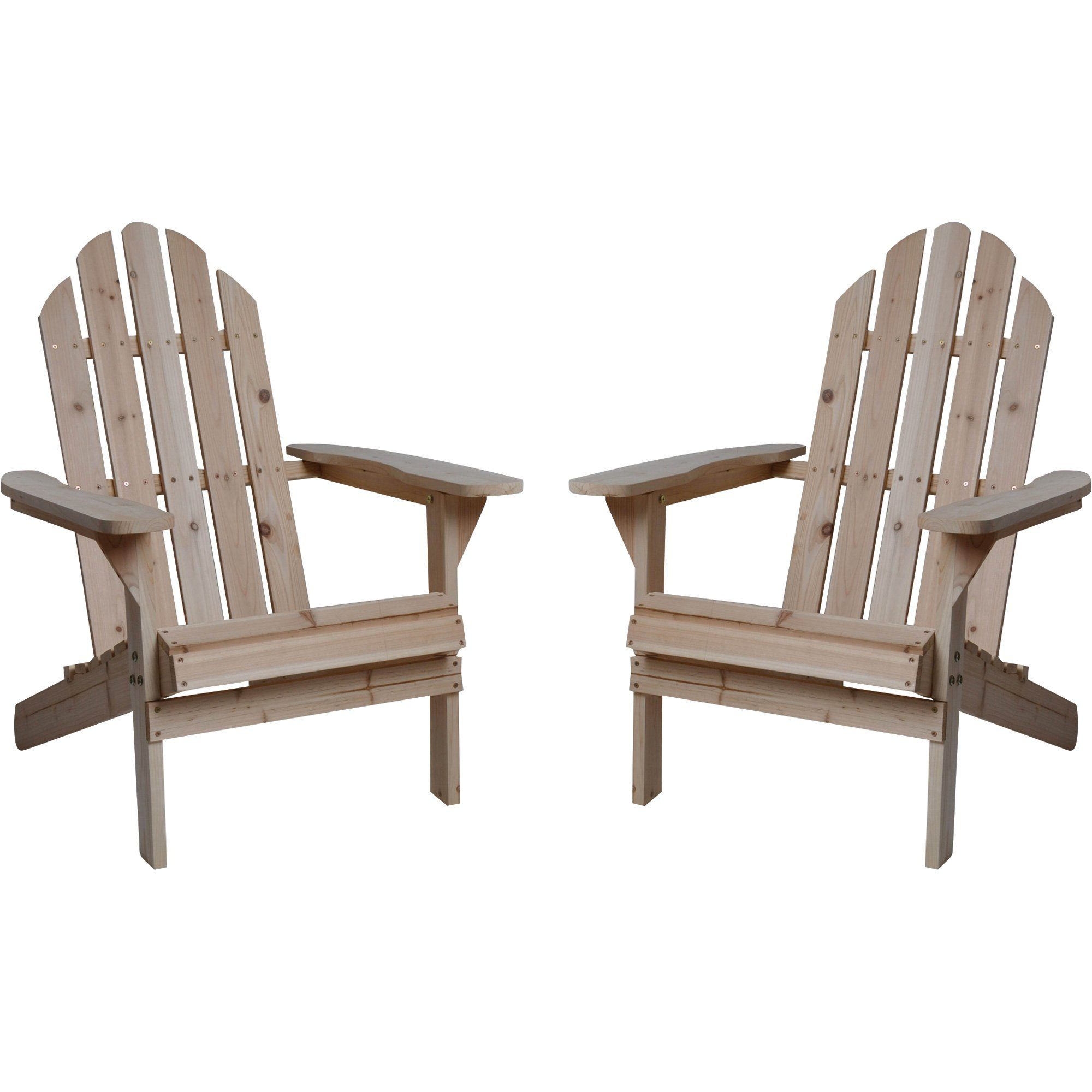 Fir Wood Unfinished Adirondack Chairs Twin Pack Wood Adirondack Chairs Adirondack Chairs Adirondack Chairs Patio