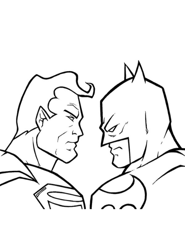 Batman Vs Superman Coloring Pages Superman Coloring Pages