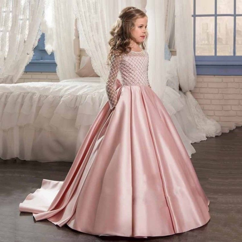 Flower Girl Dress Pageant Party Dance Wedding Birthday Gown Kids Ball Gown
