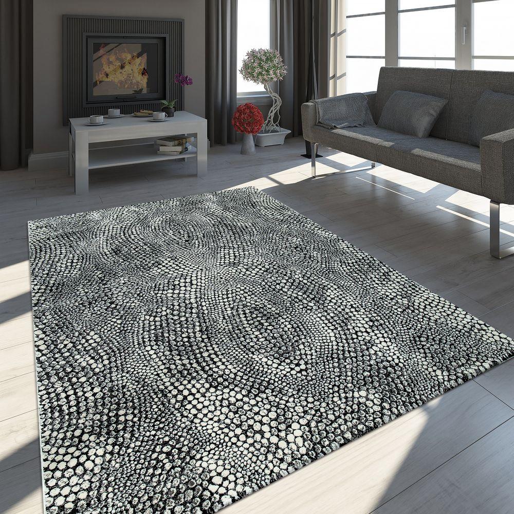 Teppich Modern Stein Optik Anthrazit Teppich Einrichtungsstil