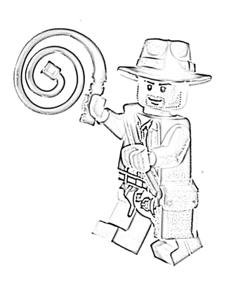 Lego Indiana Jones Coloring Page Lego Indiana Jones 1 And 2 Lego