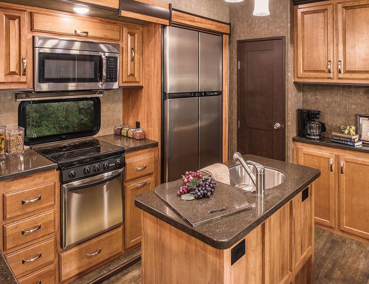 2017 K Z RV Durango Gold G381REF Fifth Wheel Kitchen Cabinets