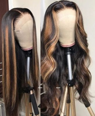 Youmi Human Virgin Hair Ombre Wave Pre Plucked Lace Front Wig And Full Lace Wig For Black Woman Free Shipping (YM0046)