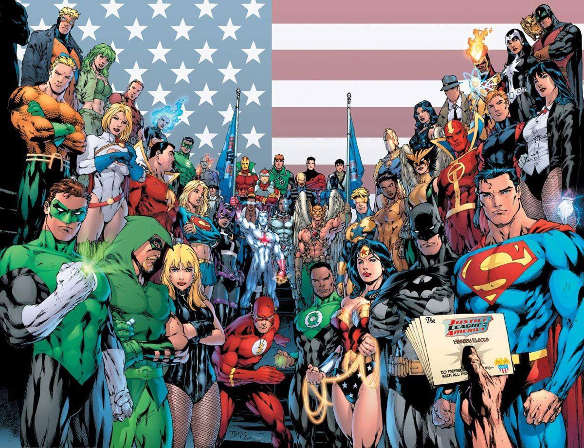 Justice League Of America Wallpaper Dc Comics Heroes Dc Comics