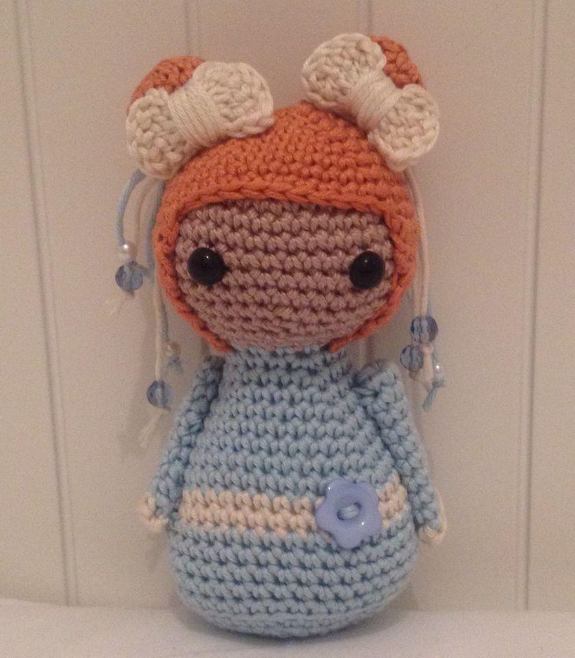 Handmade crochet Geisha doll. Amigirumi by Blossom Bazaar.