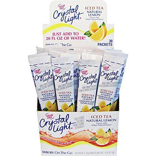 Kraft Foods Krf00757 Crystal Light Sticks Sugarfree 30bx Iced Tea Click Image For More Details Crystal Light Drinks Light Drinks Crystal Light