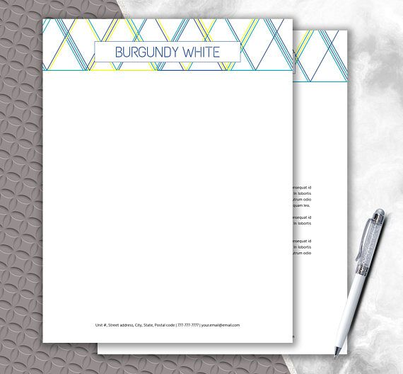 Geometric Shape Letterhead Design Download Multi Color Printable - letterhead samples word
