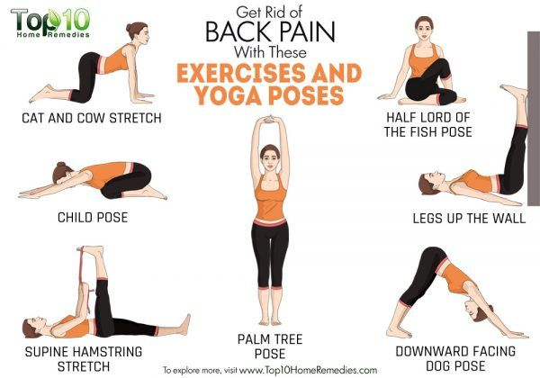 sbarazzarsi del mal di schiena con questi esercizi