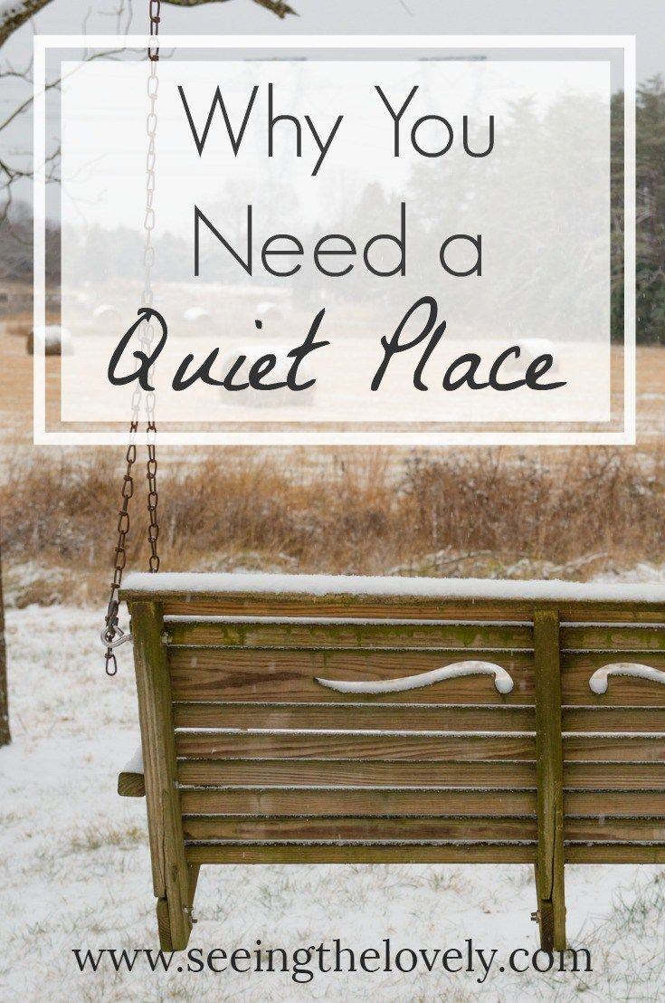 Are you tired of all the noise? Do you wish your life wasn't so hectic? Do you often wish for a quiet place to study or reflect? Find out why you need a quiet place and how it will change your life!