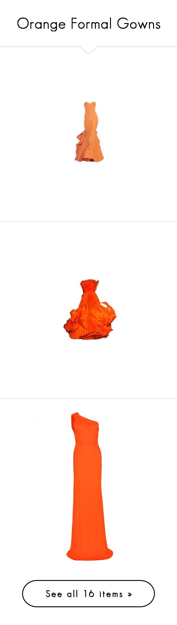 Orange Formal Gowns\
