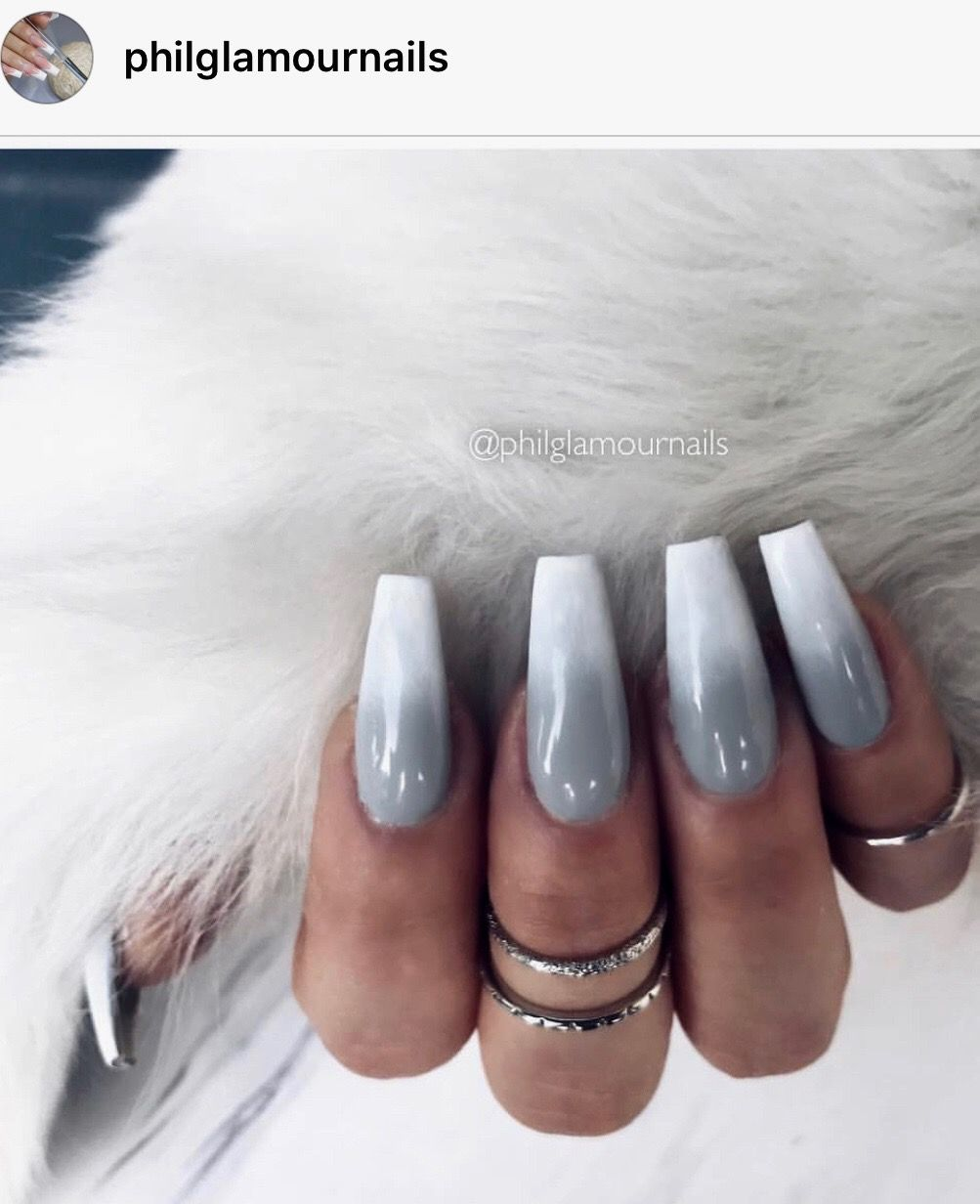Grey Ombre Nails : ombre, nails, •grey, Ombré•, Ombre, Nails,, Designs,, Clear, Designs