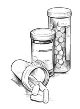pill bottle drawing images galleries with a bite. Black Bedroom Furniture Sets. Home Design Ideas