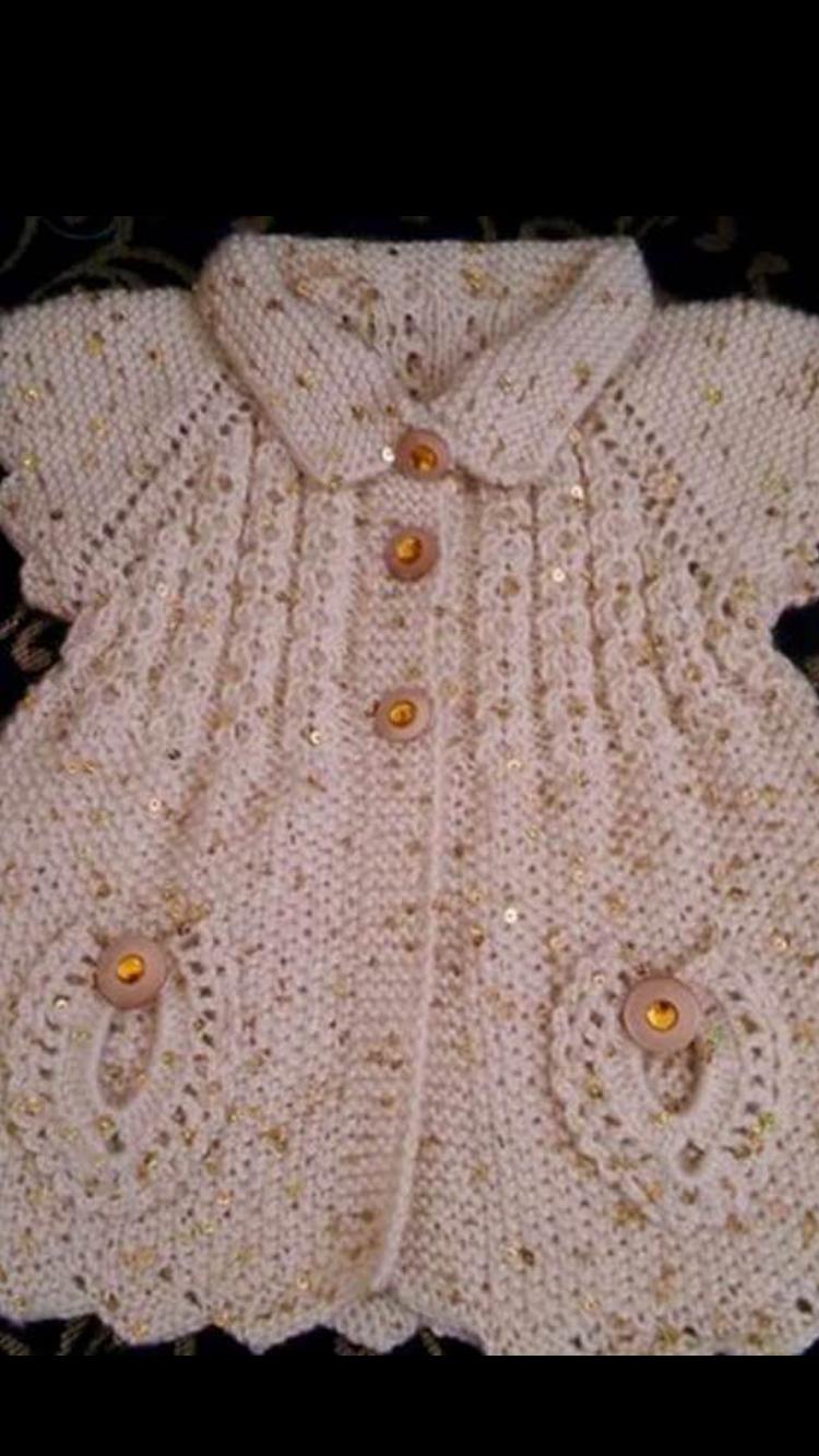 Lindo chaleco abrigo. | Bebes | Pinterest | Abrigos, Lindo y Tejido
