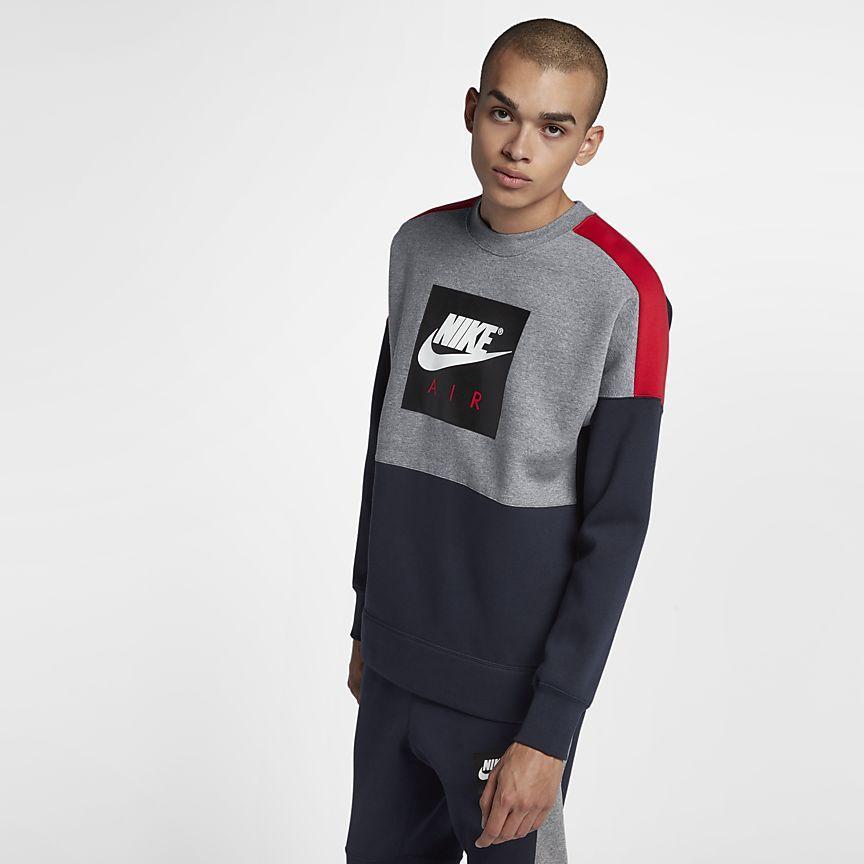 Nike Air Men's Fleece Crew | Nautica in 2019 | Mens fleece