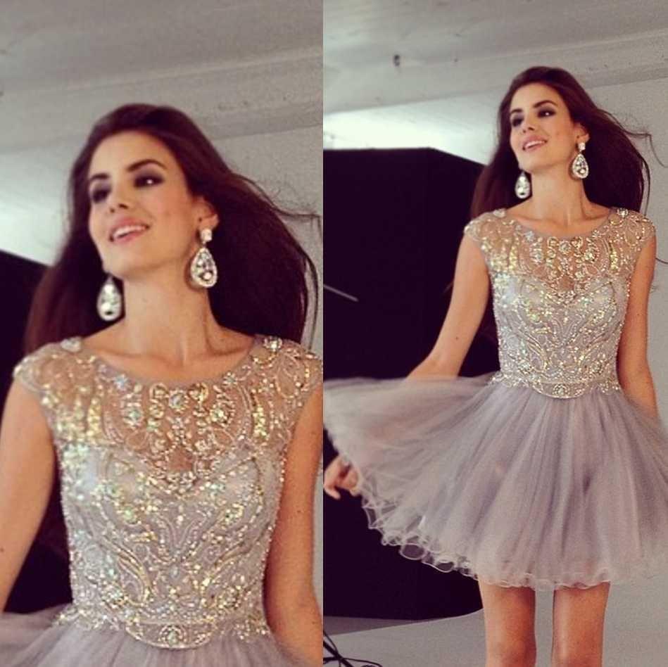 Nice awesome amazing beading dresses short tulle custom prom