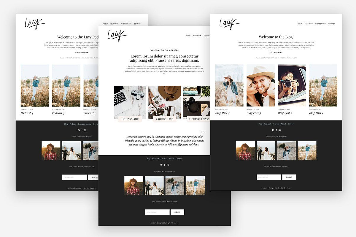 Squarespace Template Lacy