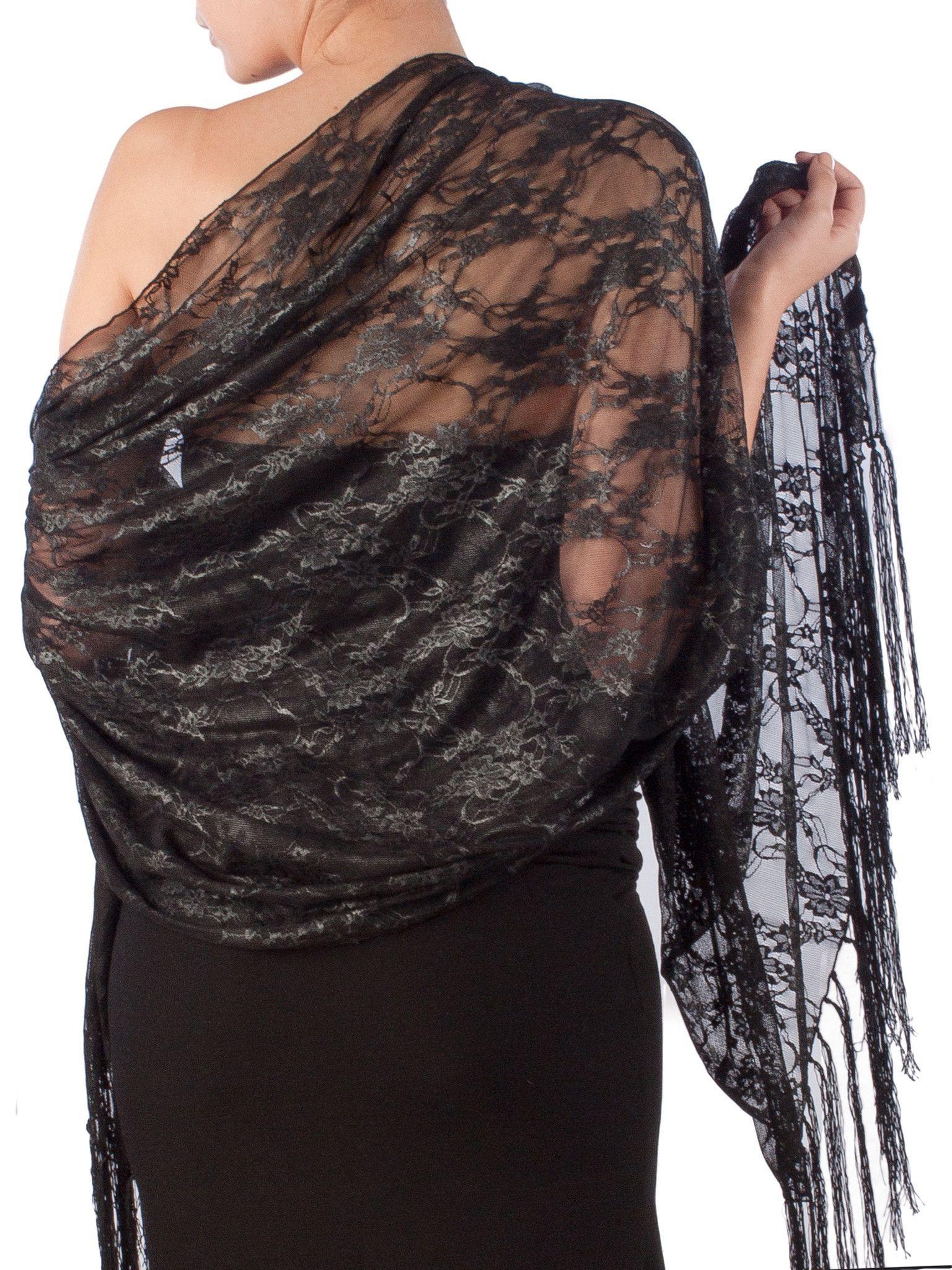 e65d87c6f04 formal black lace shawl wrap