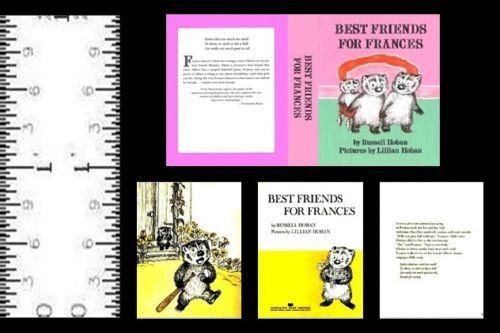 1:12 SCALE MINIATURE BOOK BEST FRIENDS FOR FRANCES DOLLHOUSE SCALE