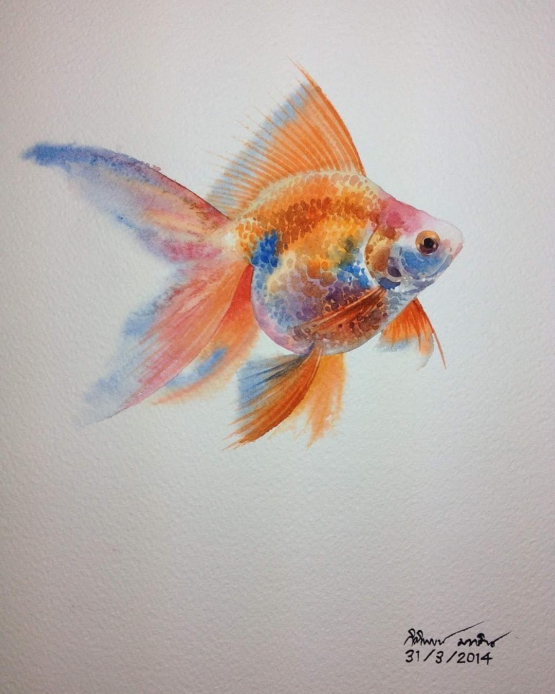 Нет описания фото. | Произведения искусства с рыбами ...