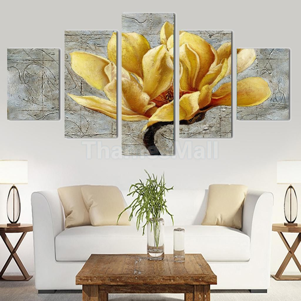 Panel canvas decorative wall painting orchid print picture set